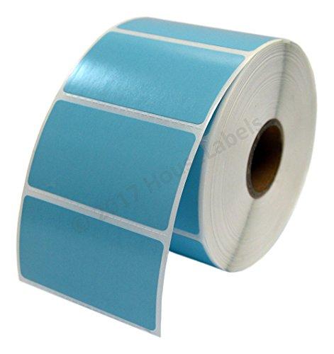 "Zebra/Eltron Compatible 2.25"" x 1.25"" Blue Direct Thermal Labels - Fifteen (15) Rolls; 1,000 per Roll - 2.25 x 1.25 Labels (2-1/4"" x 1-1/4"") - BPA Free!�"