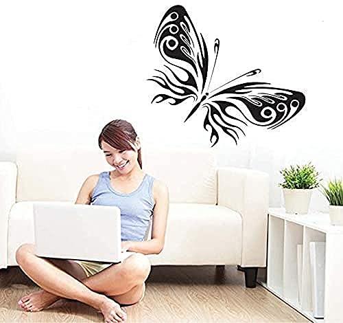 Calcomanía de 50 x 70 cm, diseño de mariposa, color negro, cama de TV, para colgar en la pared, abstracto, vinilo para regalo, fondo de cocina, pasta