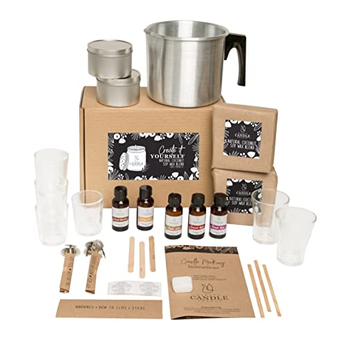 Direct Candle Supply - Complete Coco Wax DIY Candle Kit - Natural Coconut & Soy...