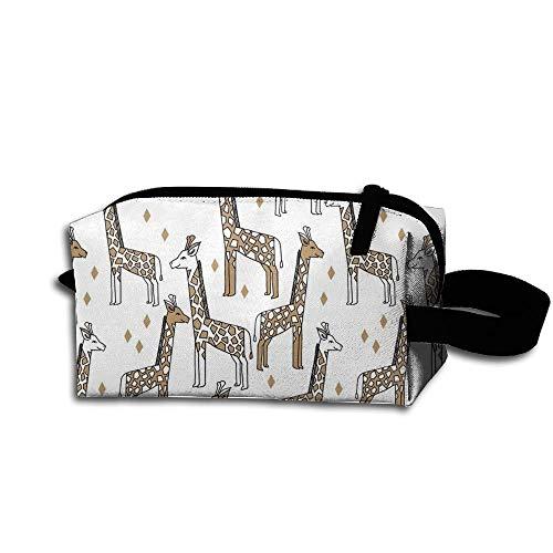 Travel Makeup Giraffe - Lion Brown Beautiful Waterproof Cosmetic Bag Quick Makeup Bag Pencil Case