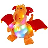 Glow Guards 12 Light up Charizard Dragon Stuffed Animal Plush Toy Night Lights Doll Holiday and Birthday Gifts for Kids (LED)