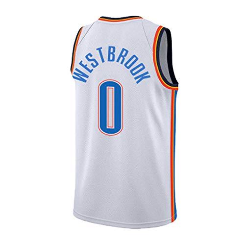 Camiseta de Baloncesto NBA Russell Westbrook 0 Deportes de Entrenamiento para Hombres Nueva Camiseta cómoda XS-XXL, L