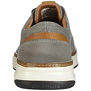 Skechers Men's Moreno Canvas Oxford Shoe, Beige (TPE 578), 10.5 Medium US