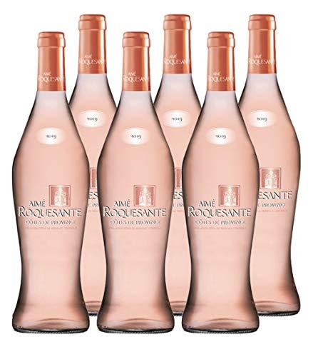 Aime Roquesante - AOP Côtes de Provence - Vin Rosé - Millésime 2019 - Lot de 6 bouteilles x 75 cl
