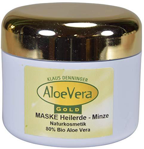 Aloë Vera Gold Crème-masker voor geneeskrachtige aarde, mint, 100 ml