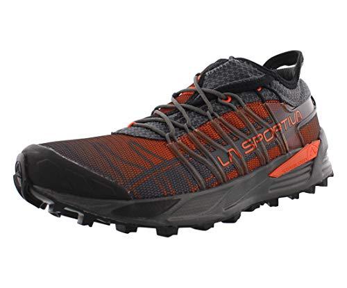 La Sportiva Men's Mutant Backcountry Trail Running Shoe, Carbon/Flame, 43.5 M EU