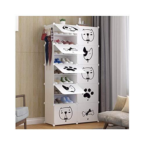 CHENTAOCS schoenenrek, stofdicht en ultradun schoenenkast, modern minimalistisch consolekabinet, locker, puur wit schattig hond eenvoudige en praktische gadget 10