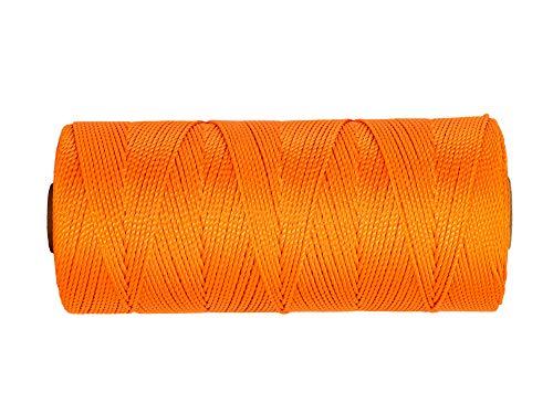 SGT KNOTS #18 Twisted Mason Line - Nylon Masonry String, DIY Projects, Crafting, Commercial, & Gardening (1100ft, FluorescentOrange)