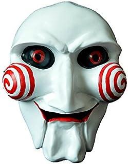 Aifeid SAW-ソウ ビリー人形風 マスク 樹脂 お面 ジグソウ・キラー ハロウィンや学園祭のお化け屋敷で皆を驚かそう コスプレ衣装・コスチューム小道具・ホラー ジョークグッズ イベントなどで活躍するコス