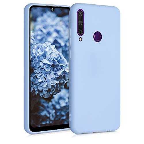 kwmobile Hülle kompatibel mit Huawei Y6p - Hülle Silikon - Soft Handyhülle - Handy Hülle in Hellblau matt