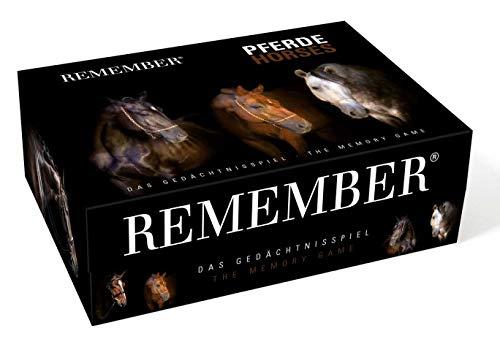 Remember Memory Gedächtnisspiel Pferde – 44 Bildpaare für Pferdeliebhaber (88 Karten)