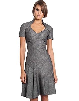 Karen Millen Grey Woolen Tweed - DH068