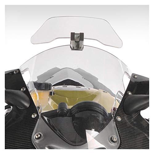 BANGHA Deflector Cupula Moto Motocicleta Universal Clip Ajustable en la extensión de Parabrisas Spoiler Blade Deflector de Viento para BMW Parabrisas De Motocicleta