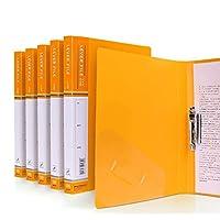 5パッククリップボード - A4 / Foldover Flap、Portfolio Organizer A4クリップボード (Color : Yellow)