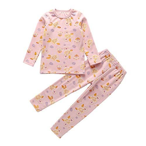 Cuteelf Kinder langärmelige Karte Blumen Blume Pyjamas Home Service Anzug Baby Jungen Mädchen Blume Blume Shirt + Hosen Bequeme Pyjamas Zweiteilige Kleidung