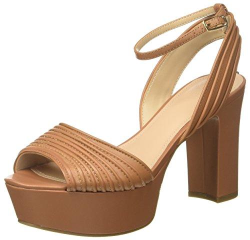 Guess Footwear Dress Sandal  Zapatos con Plataforma Mujer  Marrón (Medium Brown Tan)  36 EU