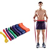 YOUTHUP Pull Up Band Set for Workout Body Stretch Powerlifting, Mobility Resistance Bands Assistance Bands at Home Gym (Yellow, 81.88x0.17x0.25)