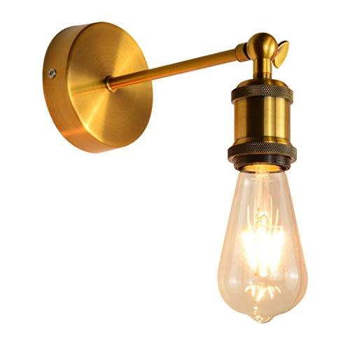 Industriële vintage wandlamp, industriële, vintage, met E27-stekker, ter decoratie van huis, bars, restaurants, cafés en clubs (zonder lichtbron).