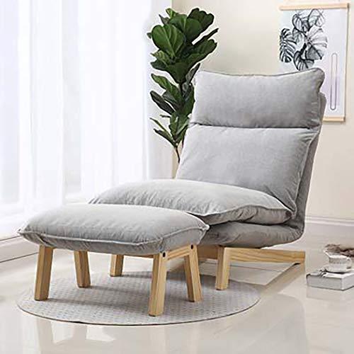 YGU Lazy Sofa Chair Recliner Verstellbarer Liegestuhl Lazy Chair mit Fußstütze Leisure Recliner