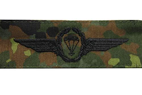 Unbekannt Bundeswehr Abzeichen Fallschirmjäger Flecktarn Stickerei: Schwarz Springerabzeichen Textil Aufnäher