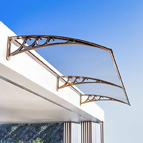 QYQPB Auvent De Porte en Alliage D'aluminium Couverture Extérieure,Porte Fenêtre Jardin Canopy Patio,Abri De Pluie Auvent De Porche,PC Solid Board, 120 * 80 * 27cm