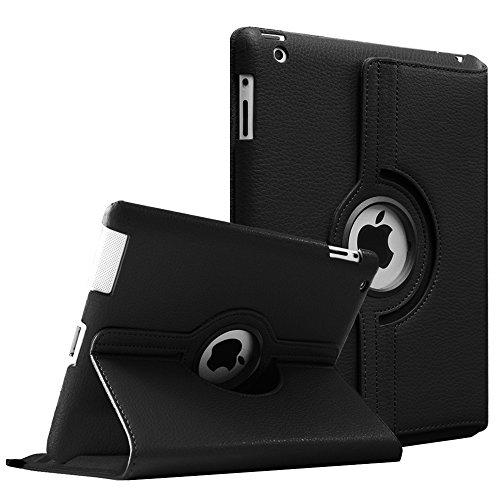 Fintie Hülle für iPad 2 / iPad 3/ iPad 4, 360 Grad verstellbare Schutzhülle Cover mit Standfunktion, Auto Sleep/Wake für iPad mit Retina Display (iPad 4. Generation), iPad 3 & iPad 2, Schwarz