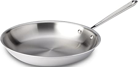 All-Clad 4112 Stainless Steel Tri-Ply Bonded Dishwasher Safe Fry Pan / Cookware, 12-Inch, Silver - 8701004401