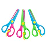 VGOODALL 3PCS 2 Color Safety Scissors DIY Pre-School Training Toys for Children Student Teacher Craft Production