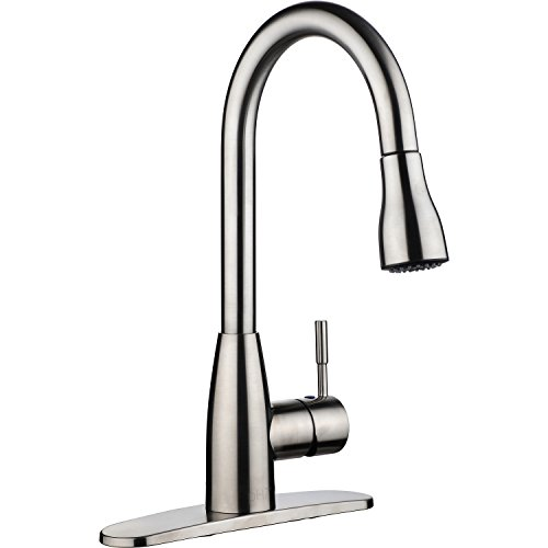 Kitmate KT0001 KT0002 Kitchen Faucets, 16.3 x 8.2 x 10.2, Silver
