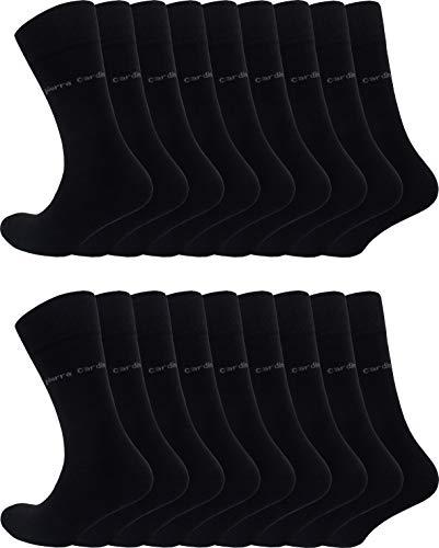 Pierre Cardin 18 Paar Sonderangebot Herren Business-Socken Baumwoll-Socken Anzug-Socken Schwarz (18, 39-42)