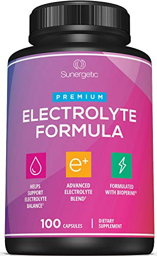 electrolyte replacements Premium Electrolyte Capsules – Support for Keto, Low Carb, Rehydration & Recovery - Electrolyte Replacement Tablets – Includes Electrolyte Salts, Magnesium, Sodium, Potassium – 100 Capsules