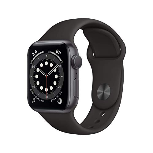 New Apple Watch Series 6 (GPS, 40mm) - Space Gray Aluminum Case with Black Sport...