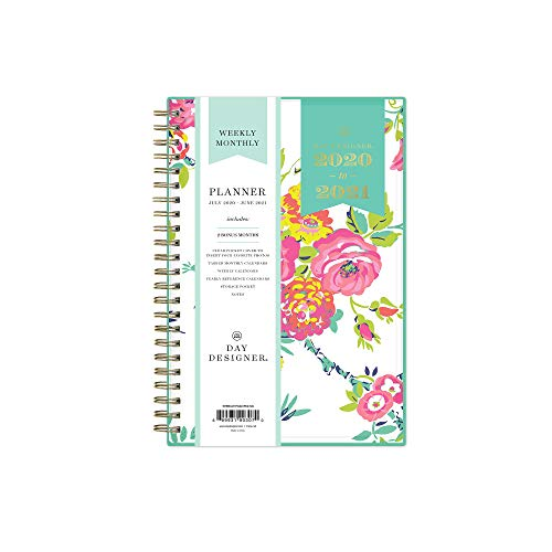 Day Designer for Blue Sky 2020-2021 Academic Year Weekly & Monthly Planner, Flexible Cover, Twin-Wire Binding, 5
