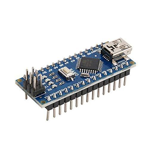 Heaviesk Nano ATMEGA328P Mini USB Mit dem Bootloader kompatibel für Arduino Nano V3.0 Controller CH340 USB-Treiber 16Mhz