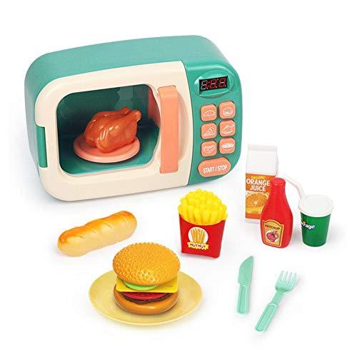 Mikrowelle Küche Spielset Kinder Mikrowelle Spielzeug so tun, als ob Mikrowelle spielen wie zu Hause passt für Kinder, Kinder, Kleinkinder so tun, als ob Spielset mit falschen Lebensmitteln 3 Jahren