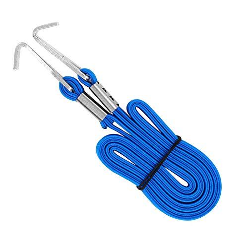XINTUON Correa de equipaje elástica para bicicleta Cinturones de bicicleta con ganchos cuerda vendaje azul