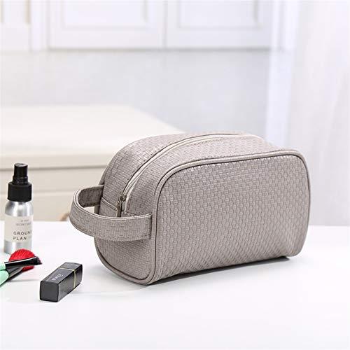 XLY Bolsa de Almacenamiento cosmético Nuevo Bolso de Almacenamiento de Color sólido Minimalista Viaje multifunción Impermeable Wrap Wrap Dust Cosmetic Bag (Color : Gray)
