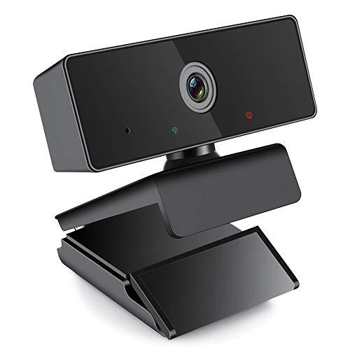 ZKCREATION Webcam - Web Camera per PC 1080P HD con Microfono, Videocamera PC Portatile Desktop USB 2.0 Videocamera per Videochiamate, Studio, Conferenza, Registrazione, Gioca a Giochi e Lavoro a Casa