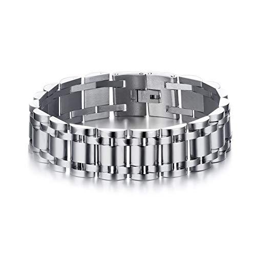 Heren armband 17Mm Breedte Roestvrij Staal heren Armband Horloge Band Stijl Ketting Bangle