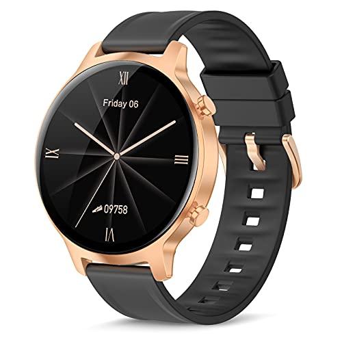 Smartwatch,1,3 Zoll Armbanduhr mit personalisiertem Bildschirm, Mit Herzfrequenz und Schlafmonitor, Schrittzähler,IP68 Wasserdicht Uhr für iOS und Android,Intelligente Uhr für Männer Frauen