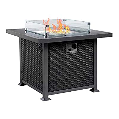 U-MAX 44 in Outdoor Propane Gas Fire Pit Table-AZ04
