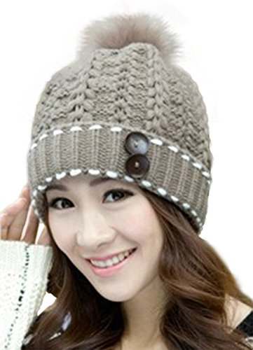 Spikerking Womens Winter Knitting Wool Hat Daily Slouchy Beanie Skull Cap
