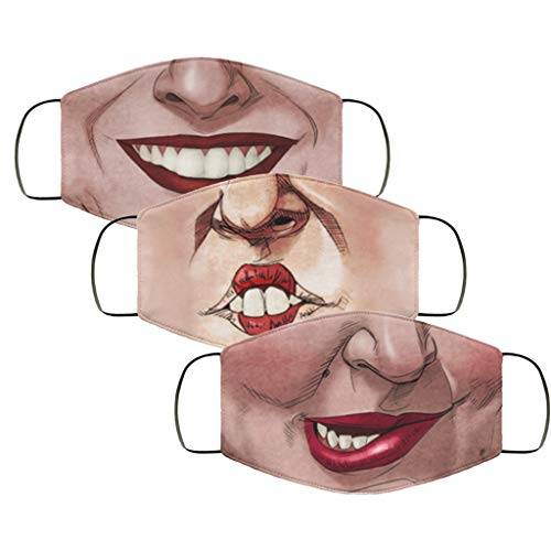 Molisell US Stock 3pack Christmas Funny Mask Hot Hocus Pocus Winnifred Sarah Mary Witches Face Mask Couple Bandanas for Dust, Outdoors, Festivals, Sports (3 Pack Sister's Bandanas)