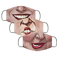 Molisell 3pack Hot Hocus Pocus Winnifred Sarah Mary Witches Face Mask Couple Bandanas for Dust, Outdoors, Festivals, Sports (3 Pack)