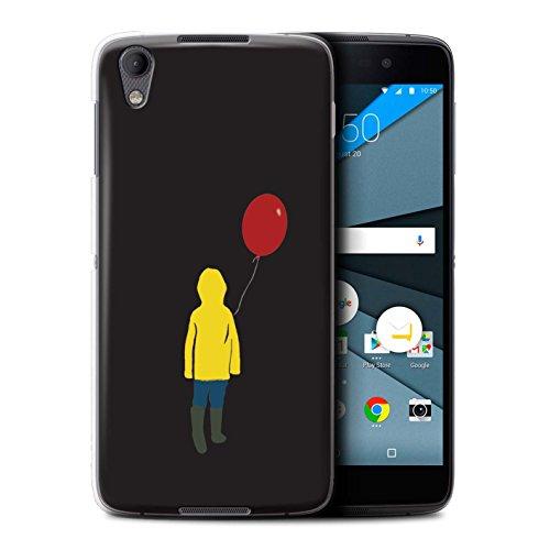 Hülle Für BlackBerry Neon/DTEK50 Horrorfilm Inspiriert Georgie/Ballon Design Transparent Ultra Dünn Klar Hart Schutz Handyhülle Case