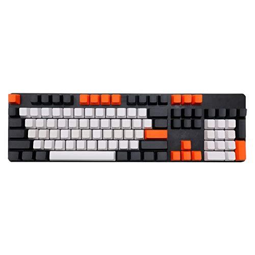 Auleset 108Pcs/Set PBT Color a Prueba de Luz Teclado Mecánico Keycap Reemplazo - 2 #