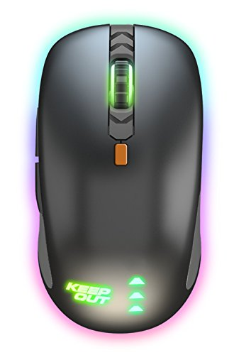 Keep Out Gaming X5Pro - Ratón (hasta 4000 dpi) Color Negro y Naranja