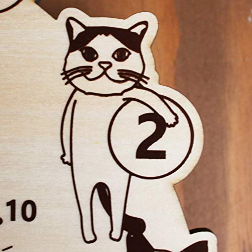 ヤマト工芸CATSclockNサイズ:約W27.5D4.5H33.5YK18-003