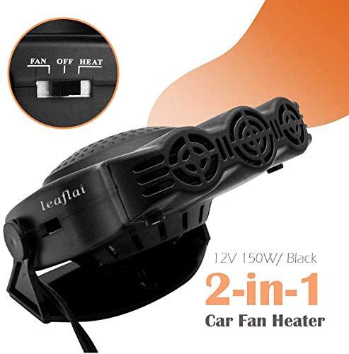 xiaocai Ventilador portátil 2 en 1 enfriador y calentador de aire electrónico para vehículo, 12 V, 200 W, calentador de parabrisas de coche, descongelador, enchufe en el encendedor de cigarrillos.