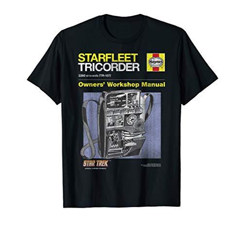 Star Trek The Original Series Starfleet Tricorder Manual T-Shirt